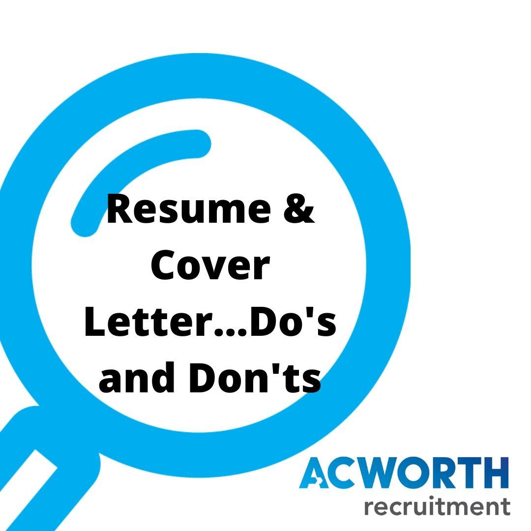 Job Seeker Series Resume Cover Letter Do S And Don Ts Acworth Recruitment